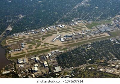 Dallas area seen from high altitude.