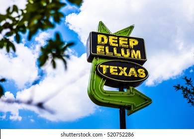 DALLAS - CIRCA JUNE 2014: Deep Ellum is a popular neighborhood is Dallas, Texas.