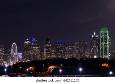 Dallas City Skyline at night, Texas