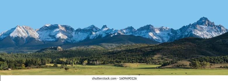 Dallas Divide mountain range in San Juan mountains of Southwest Colorado
