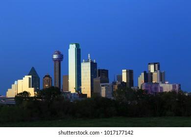 Dallas Downtown Cityscape