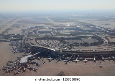 """Dallas / Fort Worth Airport"" from the sky , Texas State USA"
