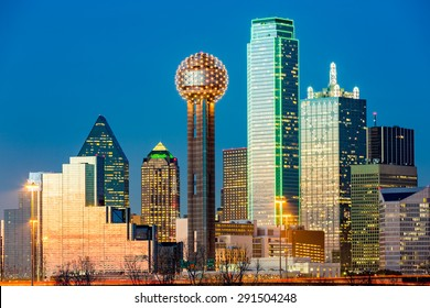 Dallas skyline at sunset