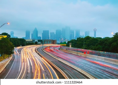 Dallas, Texas cityscape early in the morning