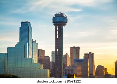 Dallas, Texas cityscape in the morning