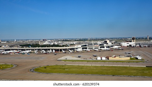 DALLAS, TEXAS - SEPT 30: The Dallas Fort Worth Airport, on September 30, 2016 in Dallas, Texas, known as DFW.