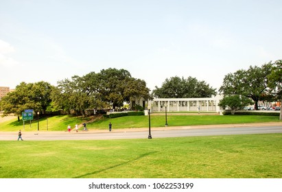 Dallas, Texas - September 2009: Landscape view of the street on which President John F Kennedy was assassinated