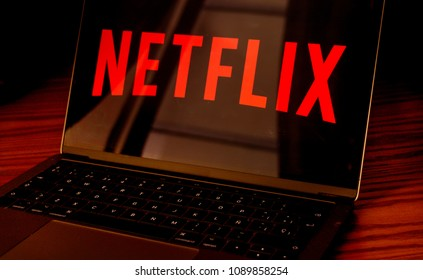Dallas, Texas/ United States - 05/10/2018: (Photograph of Netflix logo on computer screen)