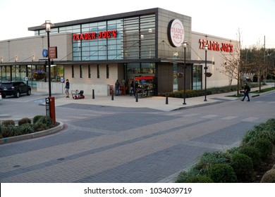 Dallas, Texas USA 2/25/2018 - Trader Joe's is a quick and easy place to buy a variety of fresh groceries. The staff is friendly and prices are good. This location is at Walnut Hill and 75.