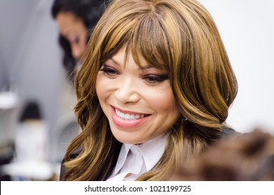 Dallas, Texas / USA - August 30, 2013: Actress Tisha Campbell-Martin interacting with Fans at the Dallas Convention Center