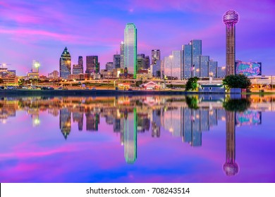 Dallas, Texas, USA downtown city skyline.