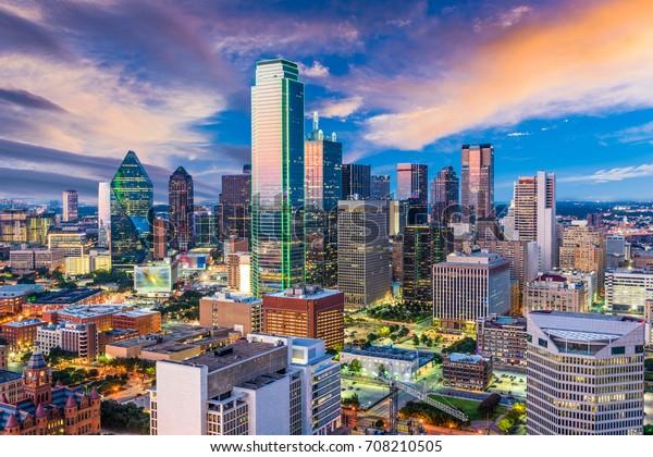 Dallas, Texas, ville des Etats-Unis, horizon.