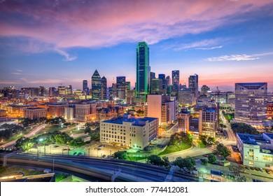 Dallas, Texas, USA downtown skyline.