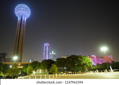 Dallas, Texas / USA - July 1 2018: View of Reunion Tower