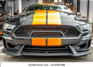 Dallas, Texas, USA. June 2, 2019: The new  Sixt Shelby Mustang GT-S make their way from Las Vegas to Florida with a stop in Dallas