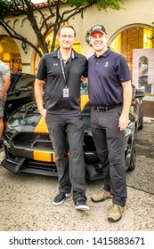 Dallas, Texas, USA. June 2, 2019: The new  Sixt Shelby Mustang GT-S. CEO Sixt North America Sebastian Birkel and Aaron Shelby