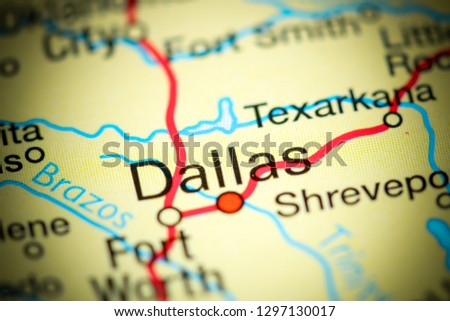 Dallas In Usa Map on