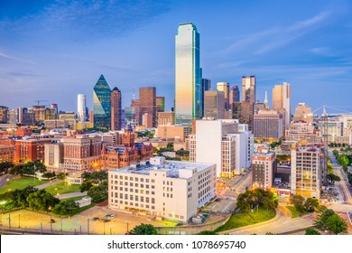 Dallas, Texas, USA skyline over Dealey Plaza.