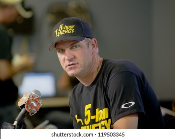 DALLAS, TX - NOVEMBER 02: Clint Bowyer at Nascar Sprint Cup Qualifying at Texas Motorspeedway in Dallas, TX on November 02, 2012