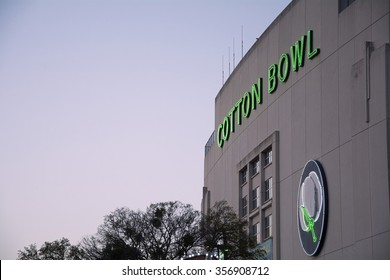 DALLAS, TX, - October 11, 2015: cotton bowl building at the Texas state fairgrounds  in dallas