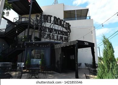 Dallas, TX / US - May 2018: Saint Rocco's at Trinity Groves