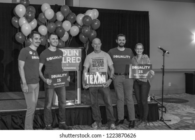 Dallas, TX / USA - 11 06 2018: Democrat Colin Allred Defeats Incumbent Pete Sessions for US Congress in Texas District 32 (2018 Midterm Elections)