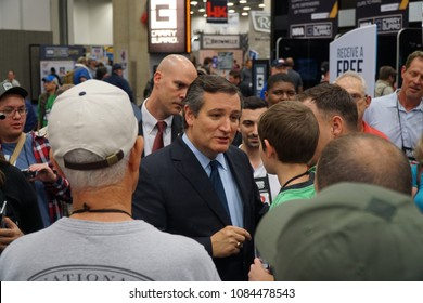 Dallas, TX \ USA – 5/4/2018: Senator Ted Cruz of Texas meets and greets visitors at the NRA 147th annual meeting held at the Kay Bailey Hutchison convention center.