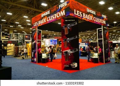 Dallas, TX / USA - 5/6/2018: The Les Bauer booth is shown at the 147th NRA annual meeting held at the Kay Bailey Hutchisons convention center.