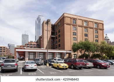 DALLAS, TX, USA - APR 7, 2016: The Sixth Floor Museum at Dealey Plaza. The museum presents the life, death and legacy of President John F. Kennedy.