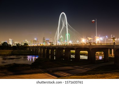 Dallas, TX, USA July 2016: Margaret Hunt Hill Bridge by Santiago Calatrava