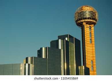 Dallas, TX, USA May 19, 2008 The Reunion Tower and Hyatt Hotel are one of the most recognizable landmarks in Dallas, Texas