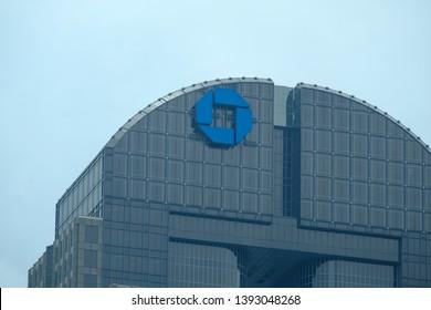 Dallas TX USA - May 6 2019: Exterior of JPMorgan Chase Bank Dallas headquarters Chase Bank Building