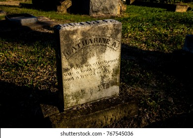 Dallas, TX / USA November 19, 2017: James G. Garvin Memorial Cemetery first burial in 1870s.  Confederate Civil War veterans and historically significant family graves on a beautiful fall afternoon.