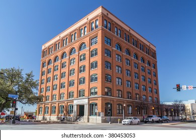 Dallas, TX/USA - circa February 2016: Sixth Floor Museum at Dealey Plaza where Kennedy was shot