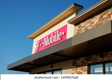 Dallas, TX/USA Jan 2020: T-mobile store sign. T-mobile is a wireless provider that offers cell phones and data plans