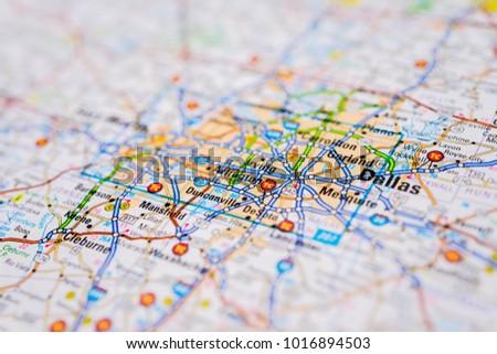 Us Map Dallas.Dallas United States Map Stock Photo Edit Now 1016894503