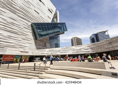 DALLAS, USA - APR 7, 2016: The Perot Museum of Nature and Science in Dallas. Texas, United States