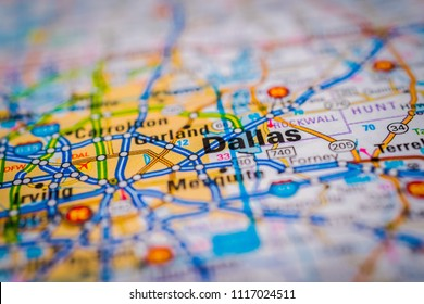 Dallas, USA map background