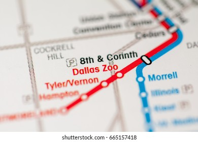 Boston Subway Map To Zoo.Forest Lane Station Dallas Metro Map Stock Photo Edit Now