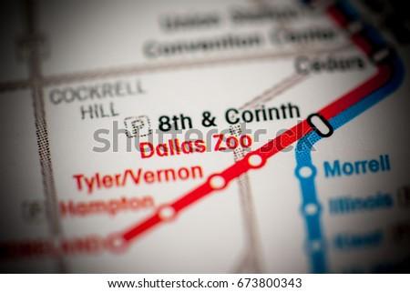 Dallas Zoo Station Dallas Metro Map Stock Photo (Edit Now) 673800343 on