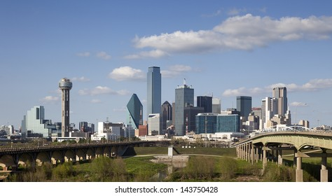 DALLAS-MARCH 31: A View of Skyline Dallas on March 31, 2013 in Dallas, Texas. Dallas is the ninth most populous city in the United States and the third most populous city in the state of Texas.