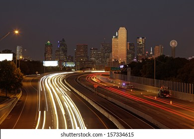 DALLAS-OCT. 1: A View of Skyline Dallas at Night on Oct. 1, 2013 in Dallas, Texas. Dallas is the ninth most populous city in the United States and the third most populous city in the state of Texas.