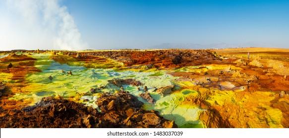 Dallol Crater Ethiopia Africa Desert