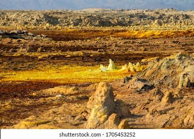 Dallol, Danakil Desert, Ethiopia, Africa