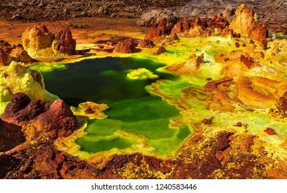Dallol volcano, Danakil Depression, Ethiopia