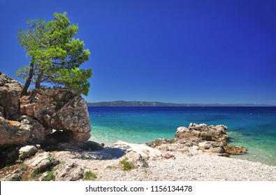 Dalmatia sea scene nature by Podgora, Croatia