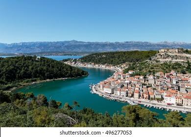 Dalmatian fishermen town of Novigrad, Croatia