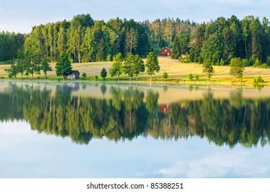 Dalsland, sweden rural reflection