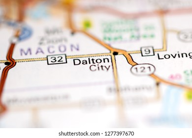 Dalton City. Illinois. USA on a geography map