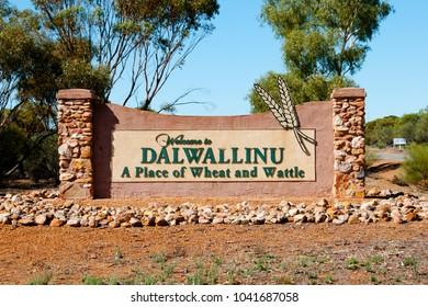 Dalwallinu Welcome Sign - Australia